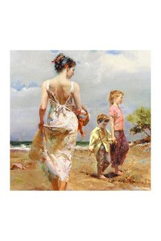 """Mediterranean Breeze"" Limited Edition Giclee on Canvas by Pino Numbered & Hand Signed Wall Art"