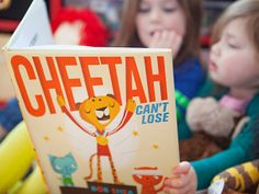 Cheetah Can't Lose, by Bob Shea Winning isn't everything. A competitive big cat misses the lesson, but your kids won't, as he goofily sets out to be No. 1. We give Shea's bold graphic art a gold medal.  Available at amazon.com, $11.