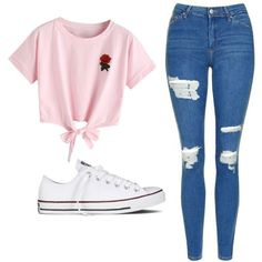 Topshop and converse cute summer outfits, outfits for teens, spring outfits Cute Middle School Outfits, Casual School Outfits, Cute Comfy Outfits, Teenage Girl Outfits, Teen Fashion Outfits, Swag Outfits, Cute Summer Outfits, Spring Outfits, Trendy Outfits