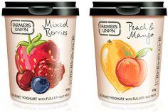 Illustration OnLine JO TRONC Yogurt Packaging, Food Packaging, Design Packaging, Fruit Yogurt, Fruit Illustration, Greek Yoghurt, Print Advertising, Package Design, Label