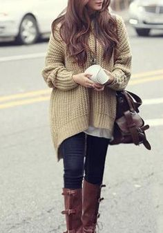 Sweater Love! Cozy Hooded Dolman Long Sleeve Irregular Thick Sweater #Cozy #Fall #Sweaters