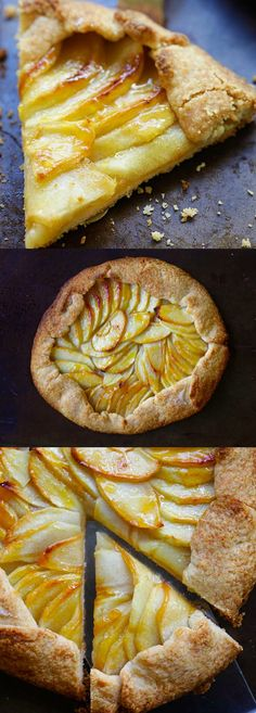 Rustic Apple Tart – the best and easiest apple tart recipe ever with buttery and the flakiest crust and sweet apple filling. A must-bake Tart Recipes, Fruit Recipes, Apple Recipes, Sweet Recipes, Dessert Recipes, Cooking Recipes, Recipies, Just Desserts, Delicious Desserts