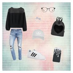 """""""Untitled #31"""" by pinky93482 on Polyvore featuring Chicwish, Abercrombie & Fitch, adidas, Ray-Ban and Topshop"""