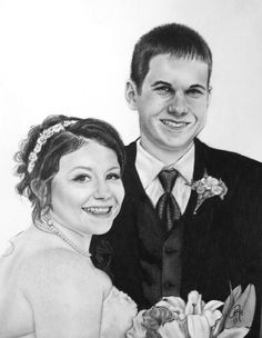 Custom Portrait –  Two Subjects, Custom Wedding Portrait, Personalized Charcoal Sketch, Pencil Sketch Art, Unique Wedding Gift Idea