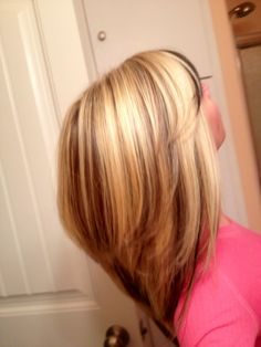 blonde hair with low and high lites | Blonde high lights and peek-a-boo low lights