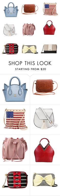 """""""Cute Handbags On A Budget: $40 and Under"""" by sofia-b04 on Polyvore featuring TWIG & ARROW, Yoki, Rimen & Co., Betsey Johnson and Nine West"""