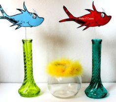 dr seuss party ideas (fish on sticks)