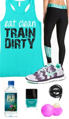 Cool #GymGear Board, Eat Clean TRAIN DIRTY Teal Workout Tank Top by #NobullWomanApparel, $24.99 on Etsy. Look good while you #Workout! Click here to buy https://www.etsy.com/listing/152934930/eat-clean-train-dirty-teal-workout-tank?ref=shop_home_active_1&ga_search_query=eat%2Bclean