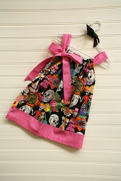 Day of the Dead Pillowcase Dress Available 03 by BabyThreadsByLiz, $28.00