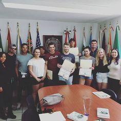 Estudiantes de Holanda en su último día de clases junto a sus profesoras. #sipuebla #studyabroad