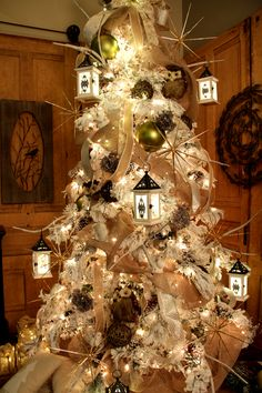 Check out this Christmas tree with lanterns!  For more Christmas decorating ideas, visit Trees n Trends or go to our YouTube channel at http://www.youtube.com/treesntrends