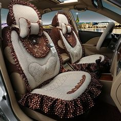 Leopard Design With Cool Color Matched Charming Universal Car Seat
