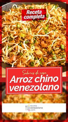Venezuelan Food, Venezuelan Recipes, Wok, China Food, Dried Fruit, Japchae, Food And Drink, Buffets, Breakfast