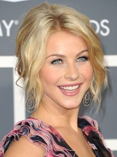Pin for Later: Endless Gorgeous Celebrity Wedding Hair Ideas Wedding Hairstyles: Updos This beach-wavy hairdo, which Julianne Hough wore at the 2011 Grammys, would look great at a casual wedding.