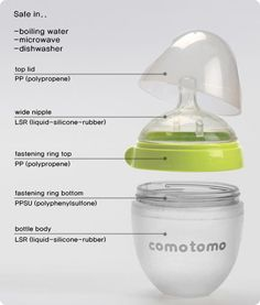 Jack doesn't LOVE bottles, but the Como Tomo has been the one he'll take the easiest. For breastfed babies, it's great because they have to imitate their latch. It's also fully made of silicon, so no plastic touches your milk.