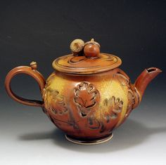 10 stem-to-stern / 7 tall / 6 wide    This four cup (you can actually fit an extra cup in there) stoneware teapot is one of my standard teapots.
