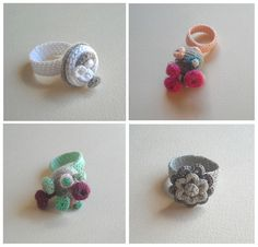 Crochet Ring Lace Yarn http://www.aliexpress.com/store/1687168 Crochet rings by biribis, via Flickr