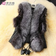 Women Faux Fur Leather Vest Outerwear Winter Warm Coat Jacket Short Waistcoat | eBay