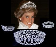 Replica royal tiaras etc are available at this site. This pin shows the Cambridge Lover's Knot tiara which was often worn by Diana, Princess of Wales, when she was married to Charles, Prince of Wales.