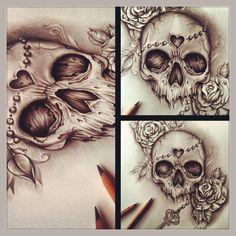 cool Skull Ink Designs by Edward Miller