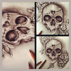 cool Skull Ink Designs by Edward Miller