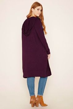 Plus Size Hooded Cardigan Hooded Cardigan 1c038a75c