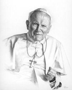 Portrait Of A Saint Drawing