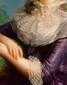 The Vicomtesse de Vaudreuil - Elisabeth Louise Vigée-LeBrun. Detail.