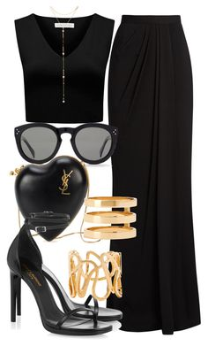 Sem título #2315 by mariandradde on Polyvore featuring Forever New, Alexander McQueen, Yves Saint Laurent, Repossi, Fragments and CÉLINE
