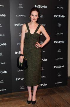 Michelle Dockery wearing Burberry Prorsum in London