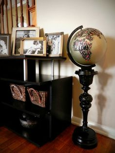 Thrifting DIY/Crafts. From diy typographical globe with pedestal to antiquing furniture to clocks to bean bags to clothes!
