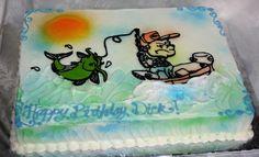 Fishing themed birthday cake. 1517657_653664771357888_18183448_n.jpg (900×549)