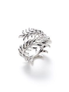 Katherine Jetter  White Gold Double Fern Wrap Ring