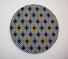 Gold black Mouse Pad mousepad / Mat  round  metallic by Laa766