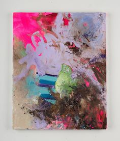 """Saatchi Online Artist: Sarah Colby; Mixed Media, 2013, Painting """"Glitter Bomb"""""""