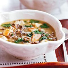 Spinach, Turkey and Wild Rice Soup: Easy, healthy slow-cooker soup. Click here for more healthy dinner recipes: http://www.midwestliving.com/food/midwest-favorites/20-healthy-dinner-recipes/page/11/0