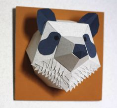 Handmade paper panda by mlle hipolyte on etsy