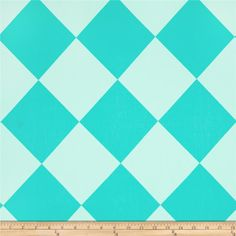 Michael Miller Canvas Harlequin Tone on Tone Aqua from @fabricdotcom  Designed by Michael Miller, this screen printed cotton canvas is versatile and medium weight. This soft fabric is perfect for window accents (draperies, valances, curtains and swags), accent pillows, bed skirts, duvet covers, dresses, skirts, tote bags and aprons. Colors include aqua and turquoise.