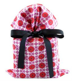 Organic Orchid Fabric Gift Bag..... these are pretty.  They would make a pretty birthday gift