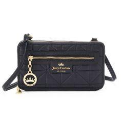 da2998cf34 Juicy Couture Crown Jewel Quilted Crossbody Wallet