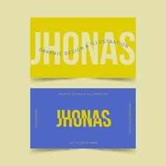 Funny graphic designer business card tem... | Free Vector #Freepik #freevector Graphic Design Branding, Identity Design, Logo Design, Web Design, Creative Design, Name Card Design, Self Branding, Bussiness Card, Typography Layout