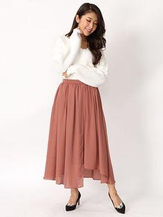 Fabulous Angela アシンメトリーギャザースカート