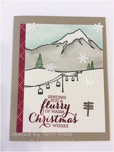 Ski Mountain Christmas by terrial - Cards and Paper Crafts at Splitcoaststampers