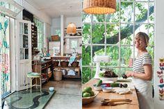 """La cocina de una coleccionista  """"La casa era la sede de un club de barrio. Donde hoy está el living decía: 'Pista de Baile'"""