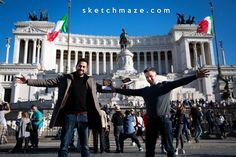 Our Italian Style :) #sketchmaze #enjoy #enjoyitaly #italy #italia #italianstyle #italian #madeinitaly #fun #funny #viral #meme #memes #marketing #follow #followme #love #art #travelgram #vacation #tourism #book #books #comics #sketch #sketches #fabioleonardi #maxvellucci
