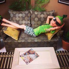 Doll Sofa Cover for Barbie Fashion Royalty Liv by FroggyStuff