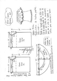 Blusa cigana   DIY - molde, corte e costura - Marlene Mukai