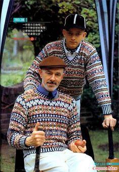 Мужские жаккардовые пуловеры