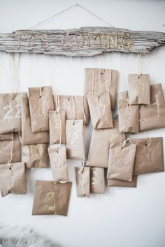 DIY driftwood advent calendar
