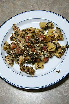 Chicken and Spinach Pasta Bake on MyRecipeMagic.com